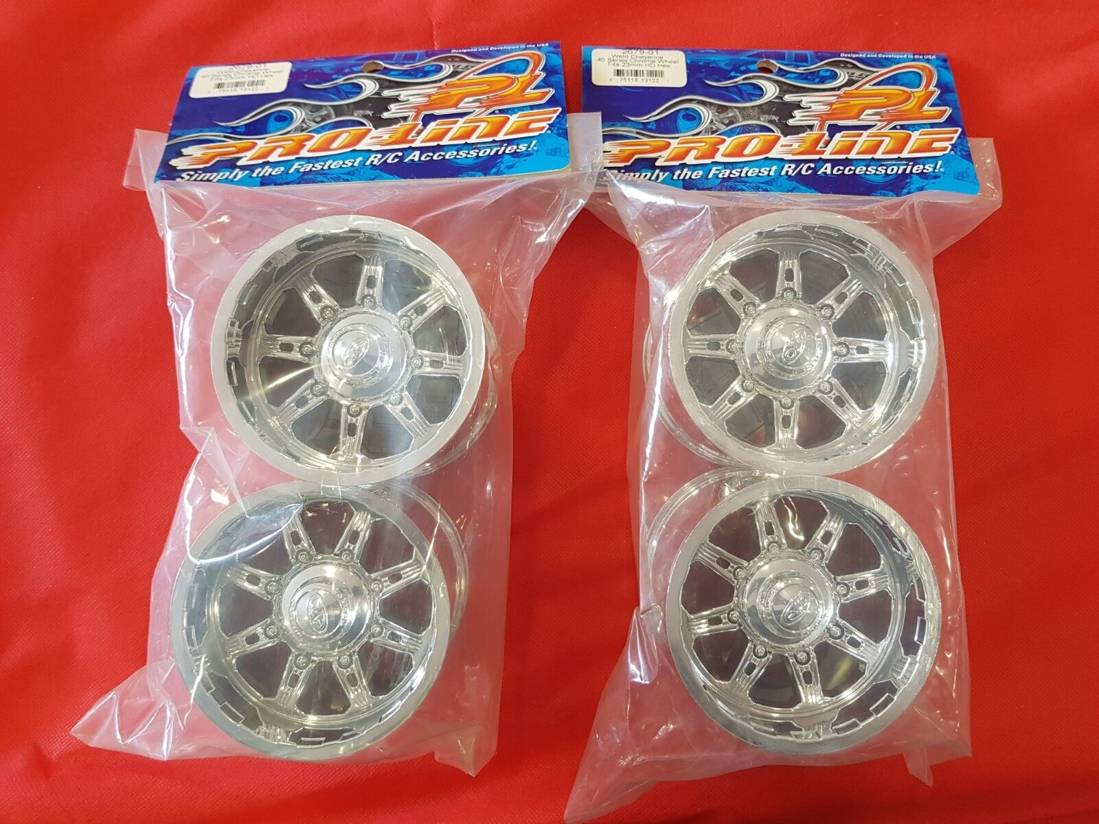 Proline 2 pares Soldadura Commando beadlock-Plata 40 ruedas hexagonal de 23mm