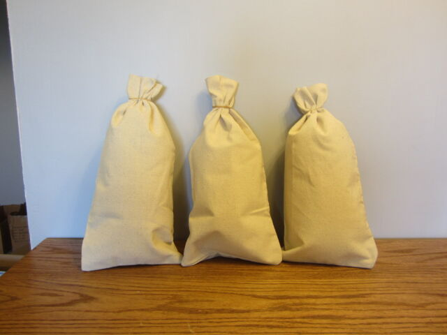 3 Canvas Coin Bags Money Change Sack Bag 9 By 17 5 Bank Deposit Transit
