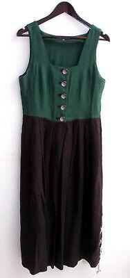 Damen Trachten Kleid ärmellos Leinen grün, Rock braun Gr ...