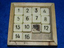vintage LOTO NUMERO ancien PIONS pion CARRE en CERAMIQUE jeu de SOCIETE old game