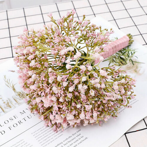 High Quality 1//2//3 Bouquet Tied Artificial Gypsophila Bouquet Faux Baby's Breath