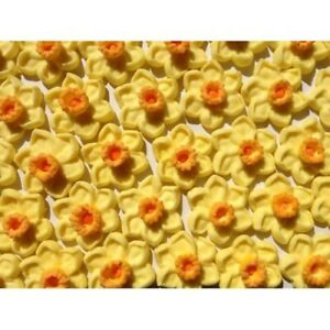 12-Edible-Daffodils-Sugar-Flower-Cupcake-Toppers-Cakes-Icing-Mothers-Day-Cake