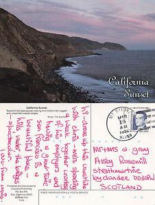 1992-THE-COAST-AT-SUNSET-CALIFORNIA-UNITED-STATES-COLOUR-POSTCARD
