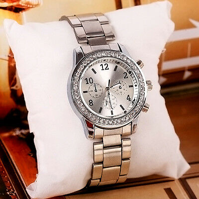 Women Luxury Golden Crystal Analog Quartz WristWatch Watches