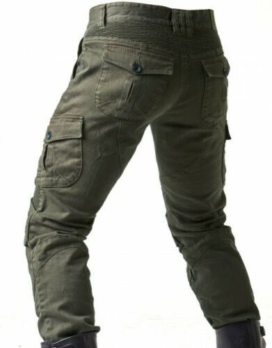 Motorcycle Jeans Denim Biker Army Green Motor Trousers Combat Pants Slim Fashion