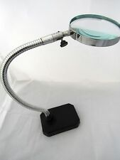 magnifying glass stand bench desk hands free magnifier