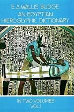 An Egyptian Hieroglyphic Dictionary : With an Index of English Words, King List