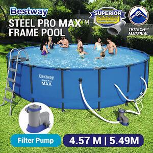 Bestway Steel Pro Max Frame Above Ground Round Swimming