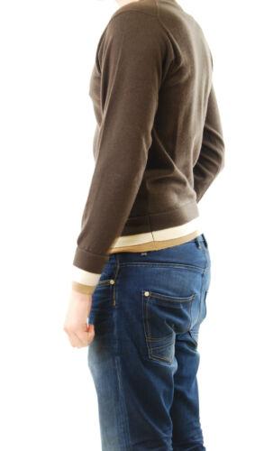 Marrón Rrp larga con oscuro Suéter Bcf511 redondo cuello Lou D Talla Manga £ 285 S para hombre qnwzBwpU