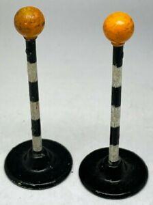 VINTAGE Dinky Toys N. 47d Coppia di DINKY TOYS Belisha Beacon Zebra Crossing