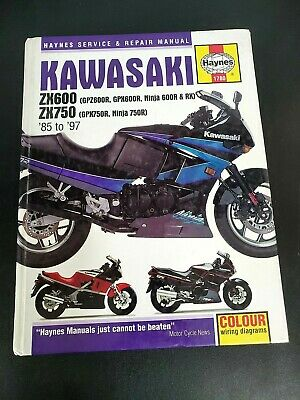 wiring diagram for 85 kawasaki ninja 6 1985 1997 kawasaki zx 600 750  ninja   gpz haynes service shop  1985 1997 kawasaki zx 600 750