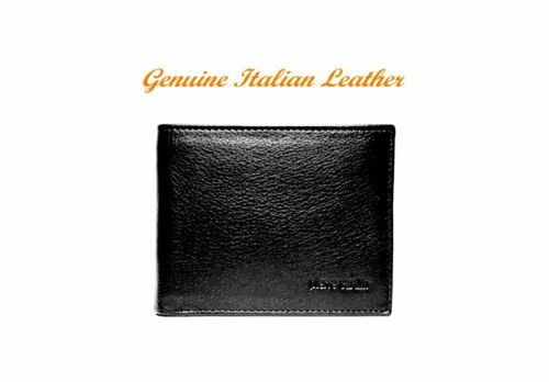 PIERRE CARDIN MEN/'S WALLET IN BLACK or NAVY-BLUE GENUINE ITALIAN LEATHER