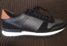 New Coach Moonlight Women Sneakers Shoes Leather Black White Sz 7 Q6640/ A7900