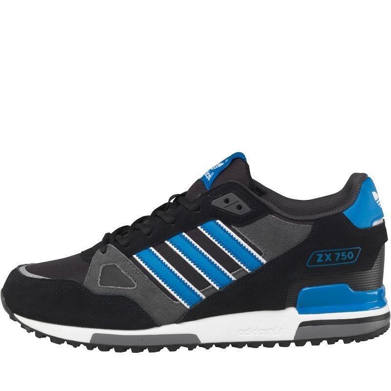 Adidas Originals ZX 750 pour Homme Baskets Noir/Bleu-