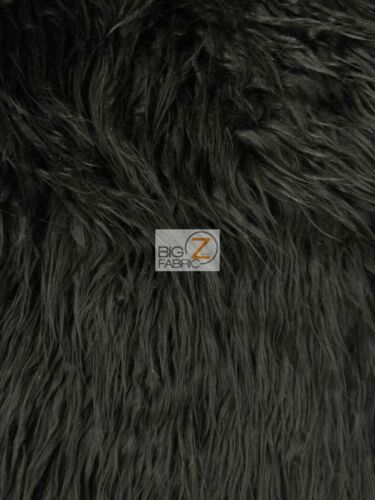 27 Colors LONG PILE SOLD BY THE YARD SHAGGY SOLID MONGOLIAN FAUX FUR FABRIC