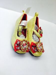 440f78ccaac0f Details about Snow White Costume Disney Girl Children Shoes Slippers  Mismatch Pair 7/8 & 9/10