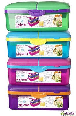 Sistema Lunch Slimline Quaddie 1.5 L Blue//Green Lunch Box
