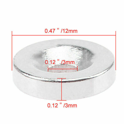 Super Strong Neodymium N35 Magnets Cylinder Round Ring Hole Magnet Tool-EBFD0812