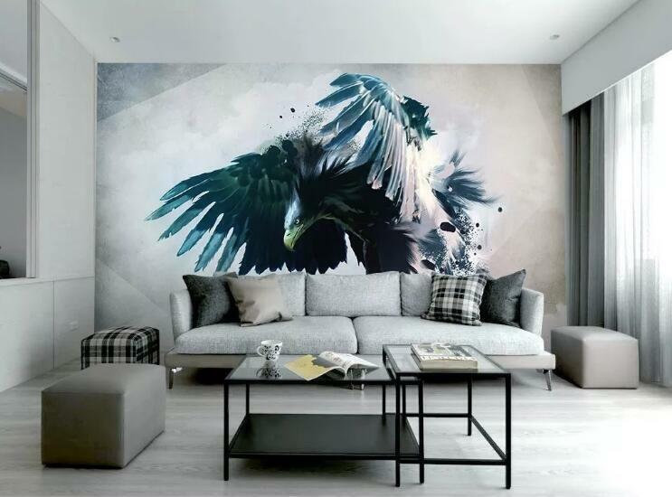 3D Eagle Painting I892 Wallpaper Mural Sefl-adhesive Removable Sticker Wendy