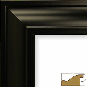 "Craig Frames Contemporary Upscale, 2"" Satin Black Picture Frame"
