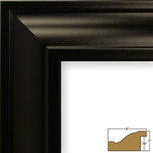 "Craig Frames Contemporary Upscale, 2"" Satin Black Picture Frame"