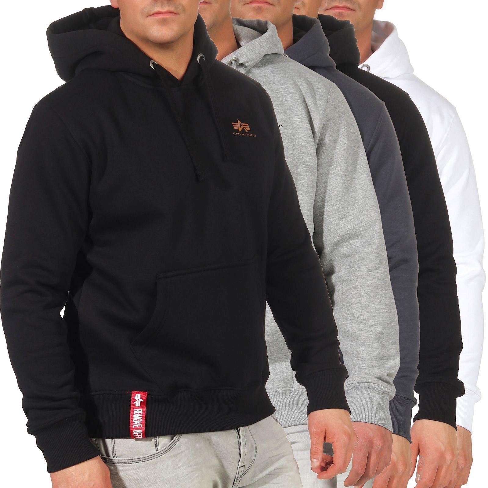 Alpha Industries Herren Kapuzenpullover Pullover Hoodie Sweater Basic 196318