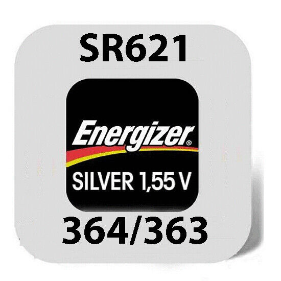 6 x Energizer Knopfzelle 364//363 SR621SW SR60 AG1 Silberoxid Uhrenbatterien