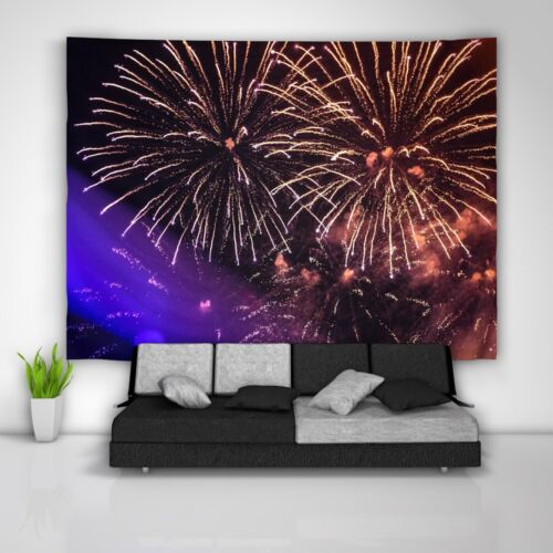 Colorful Fireworks Wall Hanging Tapestry Psychedelic Bedroom Home Decoration