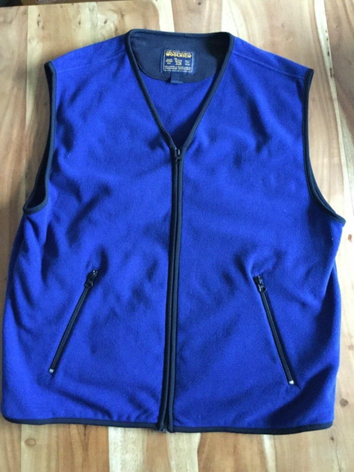 Woolrich Herren FliWeste Gr. L blau  | Up-to-date Styling