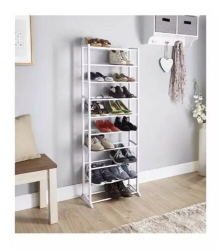 Dimensions W50 x D24 x H140cm SPECTACULAR Addis Tall Shoe Rack Upto 30 pairs