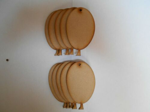 3mm thick with hole. Balloons 10cm high Wooden Craft Shapes x 10