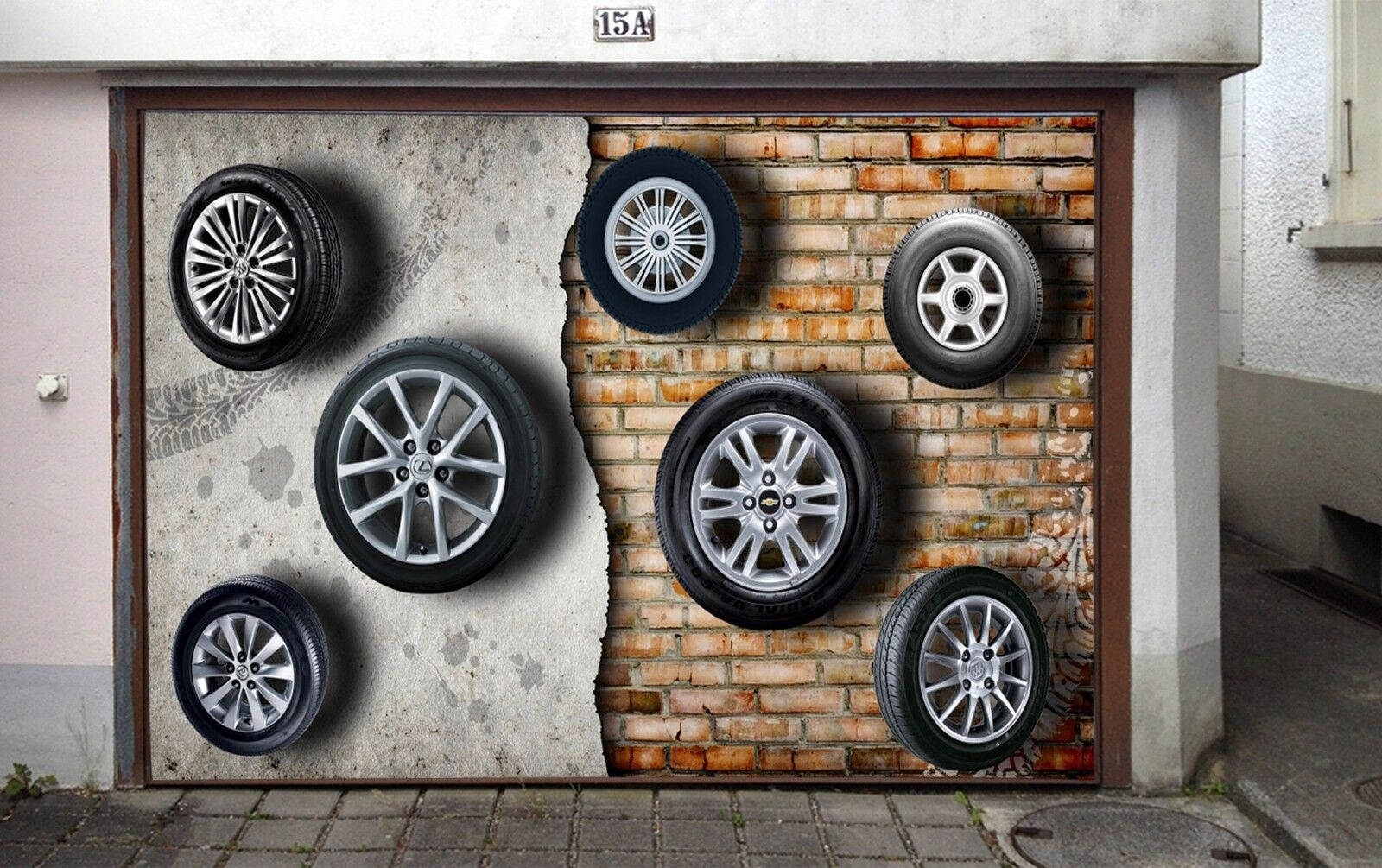3D Tire Walls 783 Garage Door Murals Wall Print Decal Wall AJ WALLPAPER UK Carly