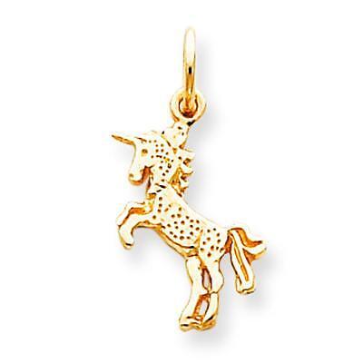 10K Yellow Gold Baby Unicorn Charm Polished Jewelry 22mm x 11mm