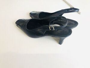 Ladies M\u0026S Wide Fit Black Leather