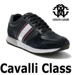 MEN-039-S-ROBERTO-CAVALLI-LACE-UP-SNEAKER-LEATHER-034-CAVALLI-CLASS-034-ESS122-MSRP-495