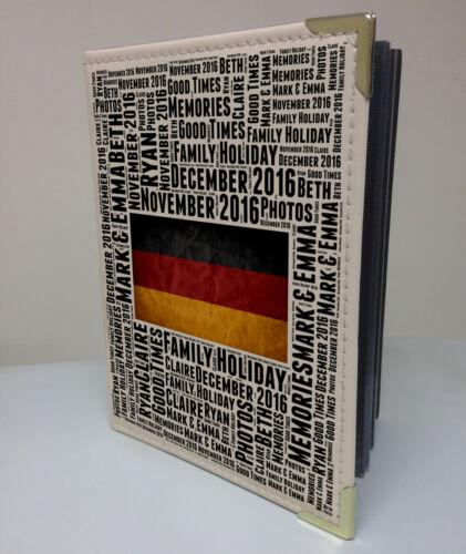"""Alemania Vacaciones luna de miel Personalised 7x5/"""" X 36 álbum de fotos libro de memoria"""