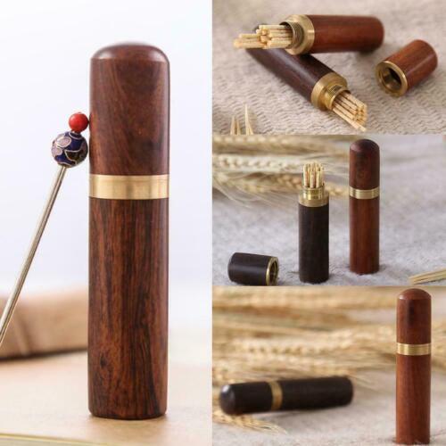 1* Wooden Sewing Toothpick Needle Organizer Storage Case Holder Box DIY T4E2