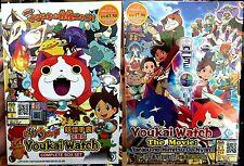 Yokai Watch: Season 1 (1 - 76 End + Movie) ~ 4-DVD ~ English Sub ~ Youkai Watch