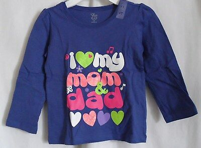 Tops & T-shirts Girls Place Purple 4t Love My Mommy And Daddy Long Sleeve Shirt High Quality Clothing, Shoes & Accessories