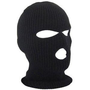 3-Hole-Warm-Ski-Mask-Balaclava-Black-Knit-Hat-Face-Shield-Beanie-Cap-Snow-Winter