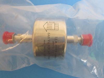 "Teflon Membrane T.E.M NIB TEM-811-MA 800 Series Gas Filter 1//4/"" Compression"