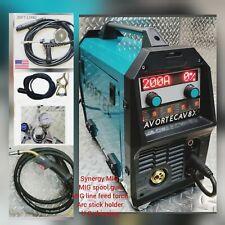 Av8x Mig 200 Synergy Single Double Pulse Weldermig Spool Gun Single P 220v