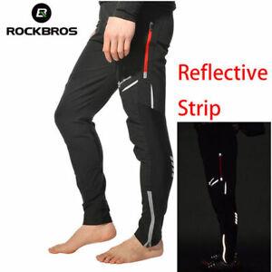 ROCKBROS-Cycling-Men-039-s-Long-Pants-Pants-Bike-Tights-Reflective-Trousers-Black