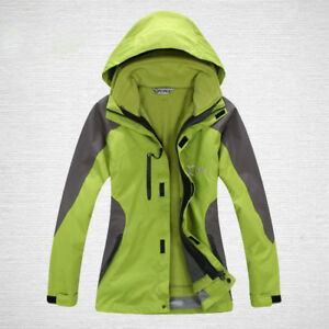 Image is loading D35-Women-Green-Ski-Snow-Snowboard-Winter-Waterproof- be0a51969