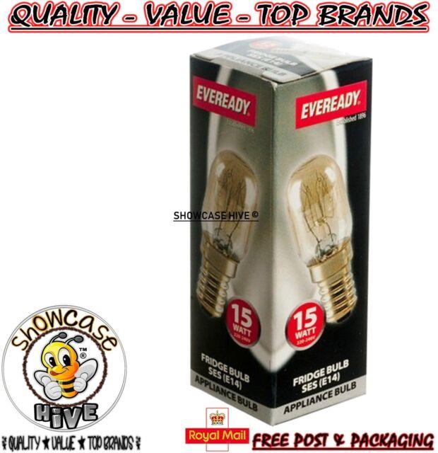 Eveready 15w Refrigerator Fridge Freezer Appliance SES E14 Screw Bulb Pygmy Lamp