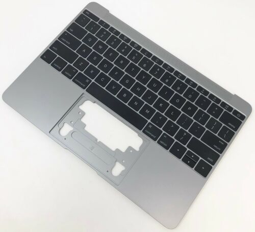 "12"" MacBook Retina 2015 B SPACE GRAY PALMREST TOP  CASE KEYBOARD MIC A1534"
