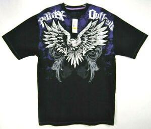 Avirex-Mens-M-Graphic-T-Shirt-Black-Short-Sleeves-Pullover-Cotton-Crew-Neck-EUC