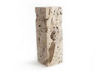 """36/"""" T Pedestal One of a Kind Cheese Stone Solid Stone Italian Travertine Modern"""
