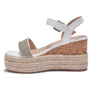 Womens Girls New Look Tan Wedge Platform Hessian Beach Casual Sandals UK 3-6