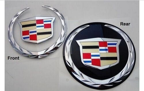 Cadillac ESCALADE FRONT & REAR Emblems! WITHOUT GRILLE PLATE!